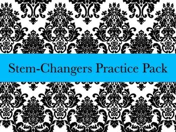 Spanish Stem-changing Verbs Worksheets Practice Pack- E to