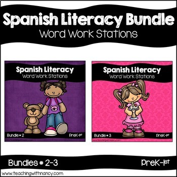 Spanish: Early Literacy Word Work Bundle 2 and 3
