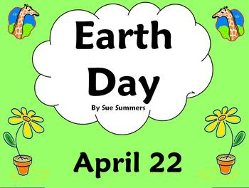 Earth Day PowerPoint, Bulletin Board Signs and Vocabulary