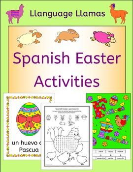 Spanish Easter - Felices Pascuas - worksheets and activities