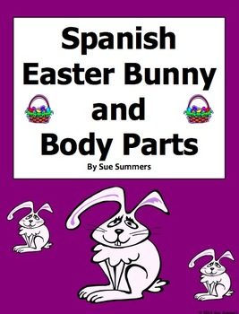 Spanish Easter Label the Easter Bunny Body Parts