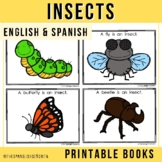 "Spanish Emergent Reader (March) - ""Insectos"" Insects"