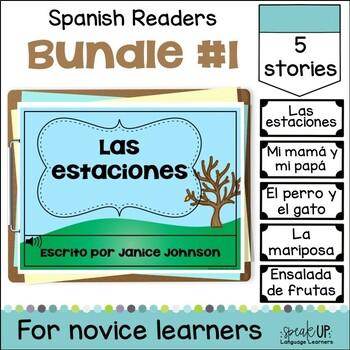 Spanish Emergent Readers {Bundled Set 1} Dual language, im