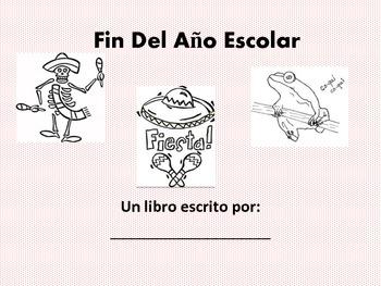 Spanish End of Year Memory Book-Fin Del Ano Escolar Libro