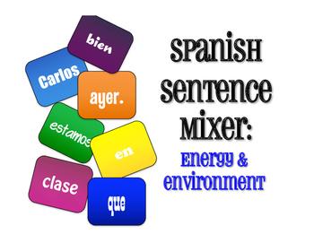 Spanish Energy and Environment Sentence Mixer