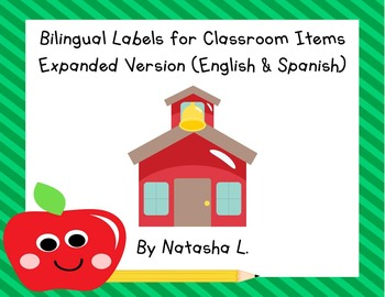 Spanish-English Bilingual Labels for Classroom Items (Expa