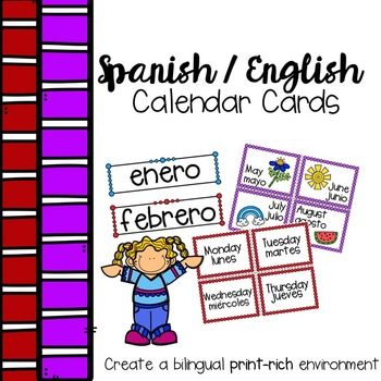Spanish English Calendar Labels