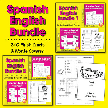 Spanish-English Vocabulary-Building Activities & Flash Car