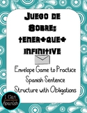 Spanish Envelope Game with Obligations / Tener que + infinitive