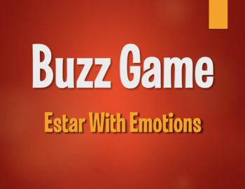 Spanish Estar With Emotions Buzz Game