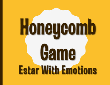 Spanish Estar With Emotions Honeycomb Partner Game