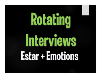 Spanish Estar With Emotions Rotating Interviews