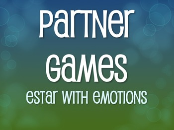 Spanish Estar With Emotions Partner Games