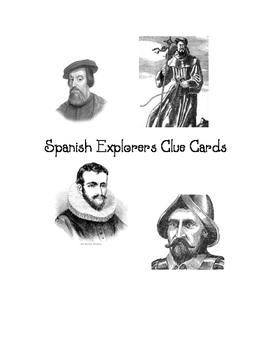 Spanish Explorer Clue Cards