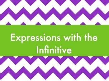 Spanish Expressions with the Infinitive Keynote Slideshow