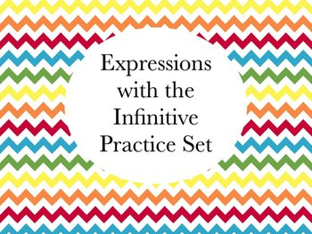 Spanish Expressions with the Infinitive Worksheets Practice Set