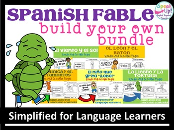 Spanish Fable Readers  ~ Build Your Own 10 Reader Bundle