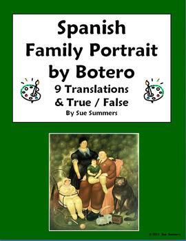 Spanish Family - Botero Family Portrait 9 True/False and T