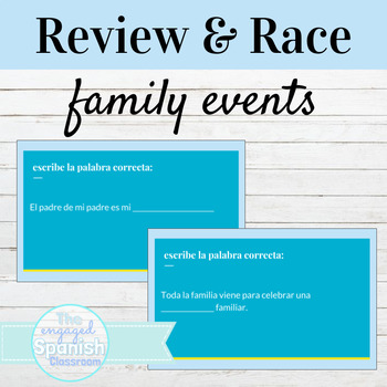 Spanish Family Relationships and Events: Word Race activity