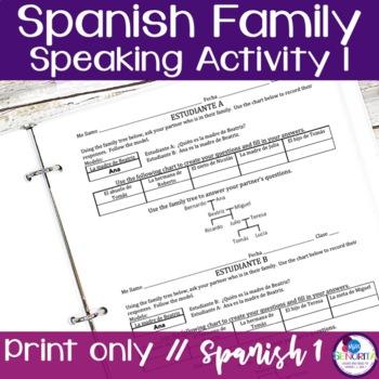 Spanish Family Speaking Activity 1
