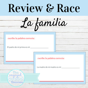 Spanish Family Vocab Words: Word Race Activity