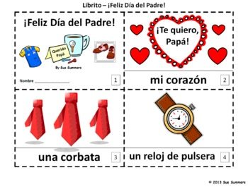 Spanish Father's Day El Día del Padre 2 Booklets and Presentation