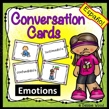 Spanish Conversation Cards Feelings  (Includes Directions