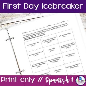 Spanish First Day Ice Breaker