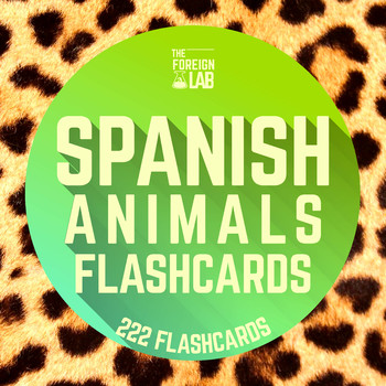Spanish Animals Flashcards {Large and Small Flashcards + H