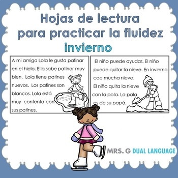 Spanish Fluency Practice- Winter themed passages for early