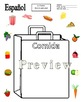 Spanish Food Grocery Bag Sketch and Label Activity