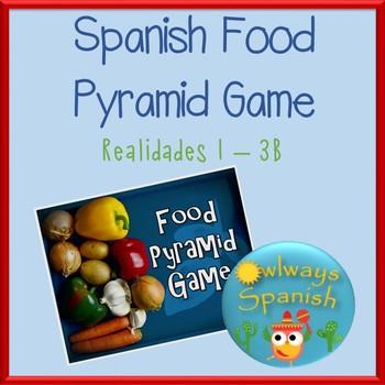 Spanish Food Pyramid Game - Realidades 3B