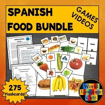 Spanish Food Flashcards, Activities, Games