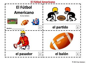Spanish Football 2 Emergent Reader Booklets - El Futbol Americano