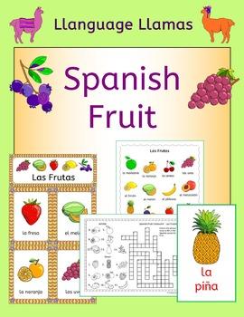 Spanish Fruit Vocabulary - Las Frutas - handouts, games, a