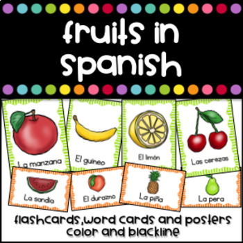 Las Frutas - Flashcards (Fruits in Spanish)