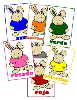 Spanish Fun Bunny Color Cards