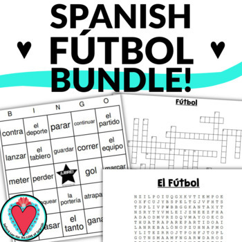 Spanish Sports - Soccer Bundle - Crossword, Word Search, B