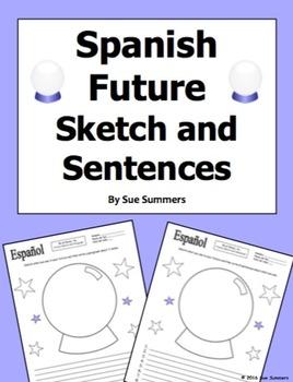 Spanish Future Sketch and Sentences - Future Tense or Ir A