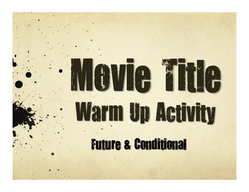Spanish Future and Conditional Movie Titles