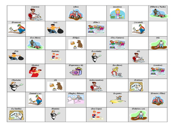 Spanish Game: Chores Checkers game for los quehaceres tene