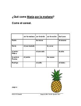 La Comida ~ Food (Info Gap Game)