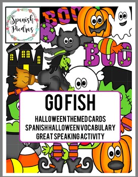 Spanish Halloween Game, Spanish Speaking Game, Go Fish Spanish