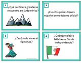 Spanish Game Trivia Task Cards ~ Concurso de Preguntas Tri