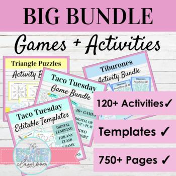 Spanish Games MEGA BUNDLE: Bundle of 36 Games for Spanish
