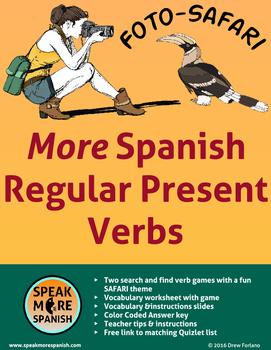 Spanish Regular Present Verbs. Juegos de Verbos Regulares