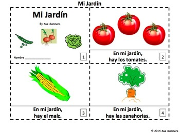 Spanish Garden 2 Emergent Reader Booklets - Mi Jardín