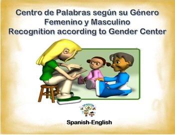 Spanish Gender Words / Femenino & Masculino in a Station /