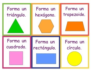 Spanish Geoboard Shape Task Cards
