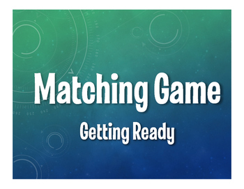 Spanish Getting Ready Matching Game